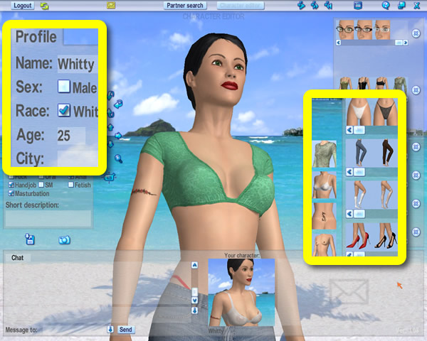 adult create person game